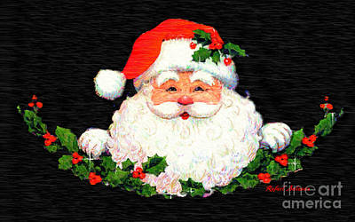 Digital Art - Ho Ho Ho Merry Christmas by Rafael Salazar