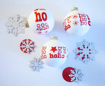Photograph - Ho Ho Ho Ornaments by Toni Hopper