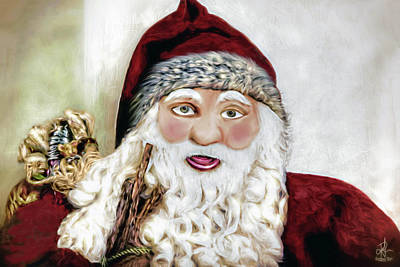 Mixed Media - Ho Ho Ho by Pennie  McCracken