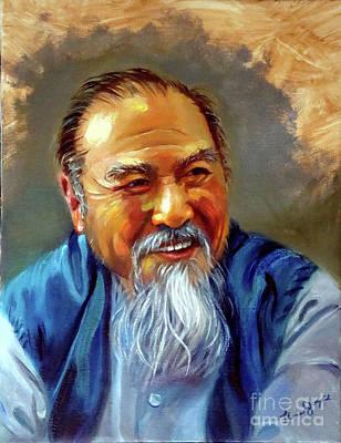 Chum Painting - Ho Kam-ming Sifu by Thomas P Joyce
