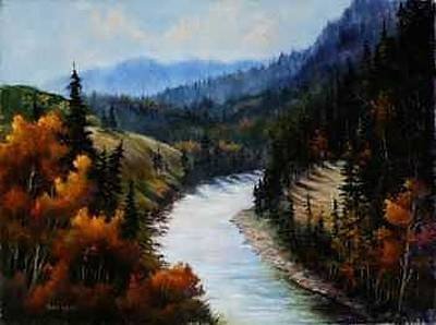 Painting - Hoback Canyon by Rene Hart