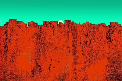 Digital Art - Hobart Tasmania Australia Skyline by Marlene Watson