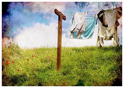 Photograph - Hobbit Clothesline And Poppies by Kathryn McBride