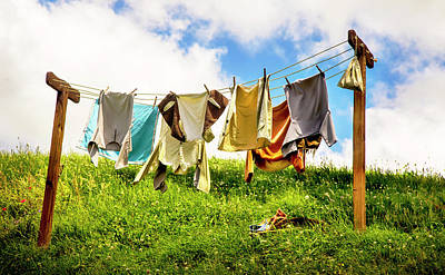 Photograph - Hobbit Clothesline by Kathryn McBride