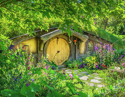 Hobbit Cottage Art Print