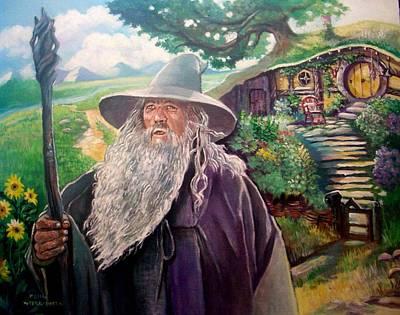 Painting - Hobbit by Paul Weerasekera