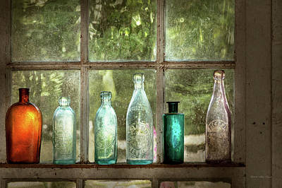 Photograph - Hobby - Bottles - It's All About The Glass by Mike Savad