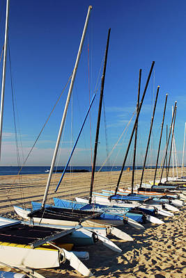Photograph - Hobie Craft At The Shore by James Kirkikis