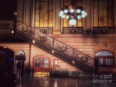 Photograph - Hoboken Train Station - Vintage Beauty Of New Jersey by Miriam Danar