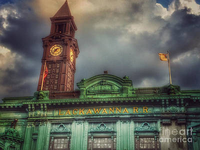 Photograph - Hoboken - Erie Lackawanna Railroad Line by Miriam Danar