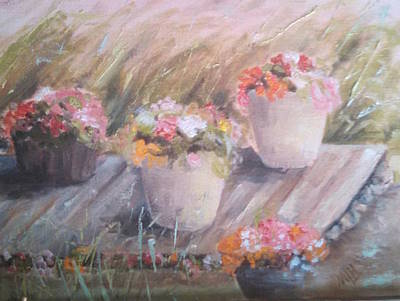 Painting - Summer Flowers by Marcia Hochstetter