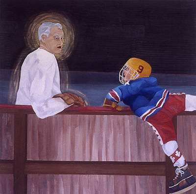Hockey God Art Print by Ken Yackel