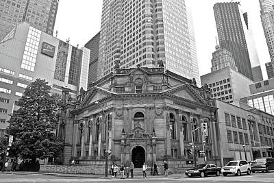 Photograph - Hockey Hall And City In Black And White by Frozen in Time Fine Art Photography