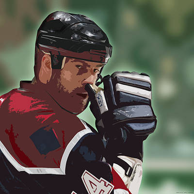 Hockey Illustration Art Print by Lucas Armstrong