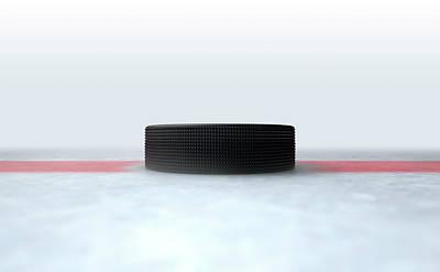 Turf Digital Art - Hockey Puck Centre by Allan Swart