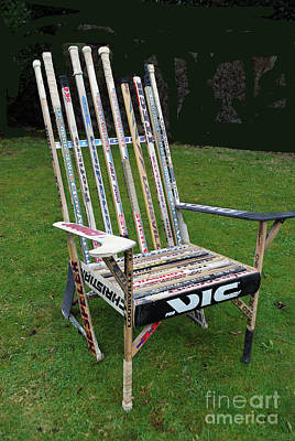 Photograph - Hockey Stick Chair by Bill Thomson