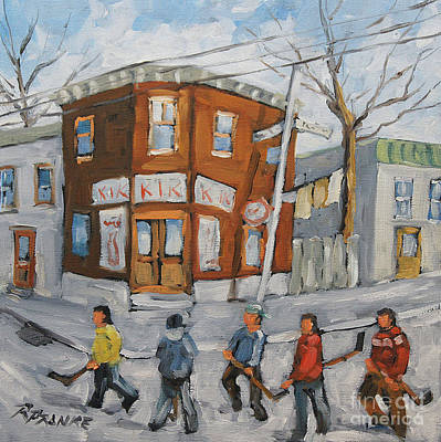 Hockey Game Painting - Hockey Town Montreal Created By Prankearts by Richard T Pranke