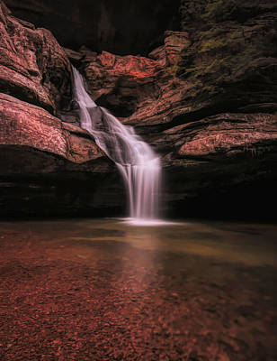 Mixed Media - Hocking Hills Cedar Falls Long Exposure by Dan Sproul