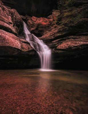 Mixed Media - Hocking Hills Cedar Falls Long Exposure by Dan Sproul