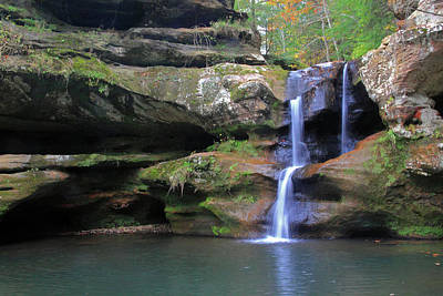 Photograph - Hocking Hills Waterfall by Angela Murdock
