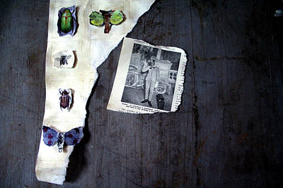 Found Object Art Photograph - Hodge Podge Of A Madman by Kreddible Trout