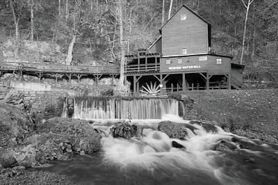Photograph - Hodgson Mill In Black And White by Gregory Ballos