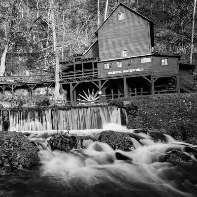 Photograph - Hodsgon Mill - Missouri - Square Format Bw by Gregory Ballos