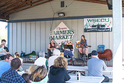 Photograph - Hoe-down At The Farmers Market by Tom Cochran