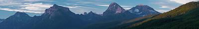 Howe Ridge Glacier National Park Art Print by Steve Gadomski