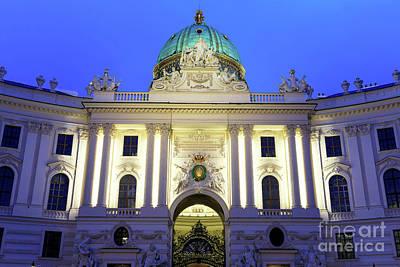 Photograph - Hofburg At Night In Vienna by John Rizzuto