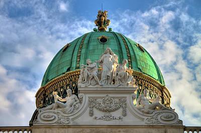 Historic Architecture Photograph - Hofburg Palace Dome by Sharon Sanowar
