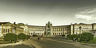 Photograph - Hofburg Palace - Front View by Roberto Pagani
