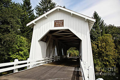 Photograph - Hoffman Wooden Covered Bridge by Scott Pellegrin