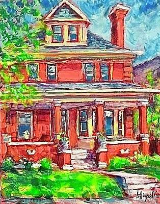 Painting - Hoffmann Home by Les Leffingwell