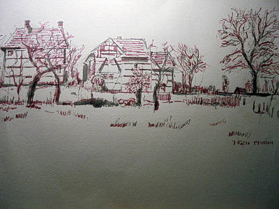 Hofke In Mechelen Limburg Art Print by Gerard Beekman