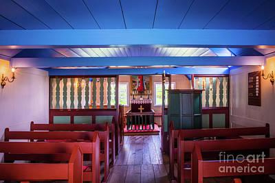 Photograph - Hofskirkja Interior by Inge Johnsson