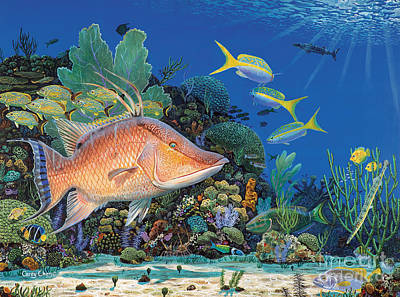 Parrotfish Painting - Hog Heaven by Anthony C Chen