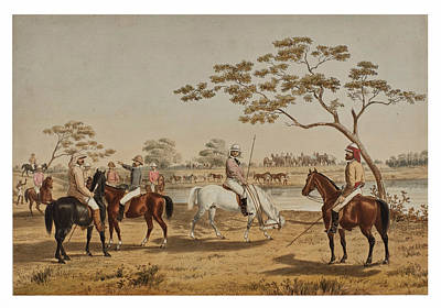 Drawing - Hog Hunting In Lower Bengal 2 by Percy Carpenter