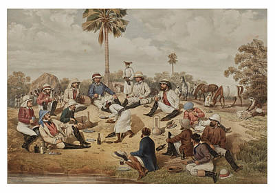 Drawing - Hog Hunting In Lower Bengal 3 by Percy Carpenter