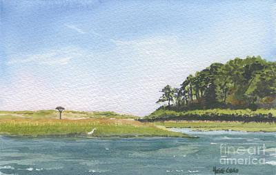 Cape Cod Bay Painting - Hog Island Creek by Heidi Gallo