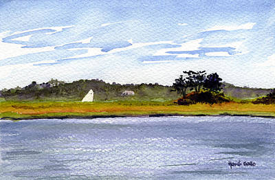 Cape Cod Painting - Hog Island Creek Sail by Heidi Gallo