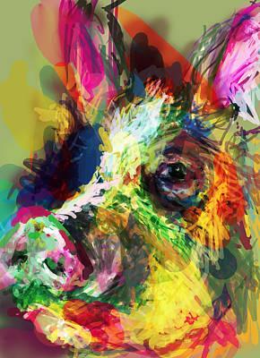 Snout Digital Art - Hog by James Thomas