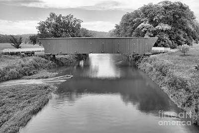 Photograph - Hogback Bridge Landscape Black And White by Adam Jewell