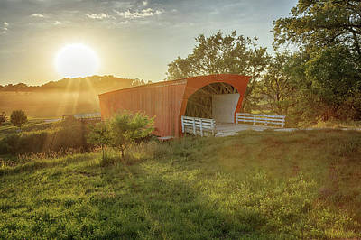 Art Print featuring the photograph Hogback Covered Bridge 2 by Susan Rissi Tregoning