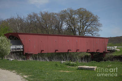 Vermeer Rights Managed Images - Hogback Covered Bridge - Madison County - Iowa Royalty-Free Image by Teresa Wilson