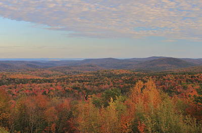 Photograph - Southern Green Mountain Fall Foliage From Hogback Mountain by John Burk