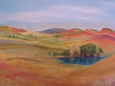 Hogback Painting - Hogbacks At Lory State Park by Margaret Bobb