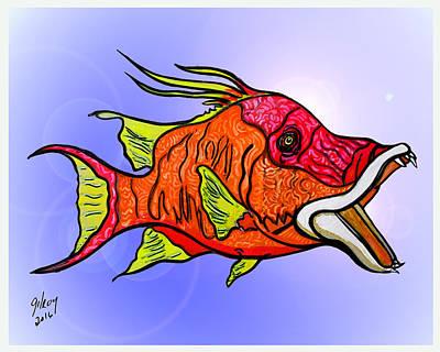 Sailfish Mixed Media - Hogfish by W Gilroy