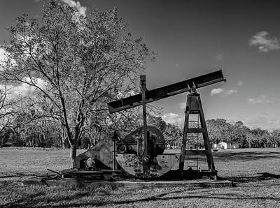 Photograph - Hogg Plantation Oil Well by Joshua House