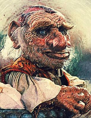Lowbrow Digital Art - Hoggle - Labyrinth by Taylan Apukovska